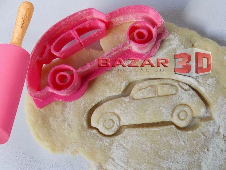 Cortador De Biscoito Carrinho Modelo Fusca - Carro Antigo 3d - R$ 9,90 em Mercado Livre