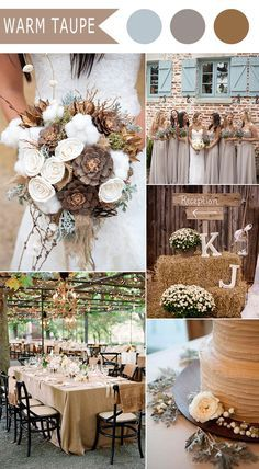 Table/decor rustic neutral fall wedding colors for 2016