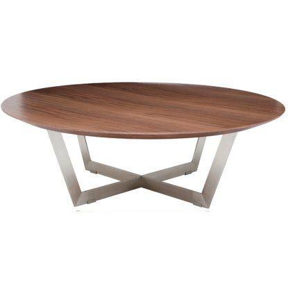Nuevo Dixon Round Wood Coffee Table