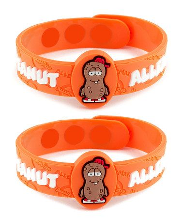 Another great find on #zulily! Peanut Health Alert Bracelet - Set of Two by AllerMates® #zulilyfinds