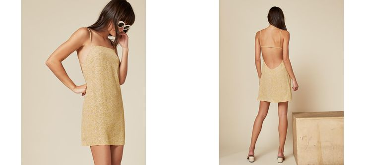 When your front needs a break. This is a relaxed fitting mini dress with a low armhole and open back.