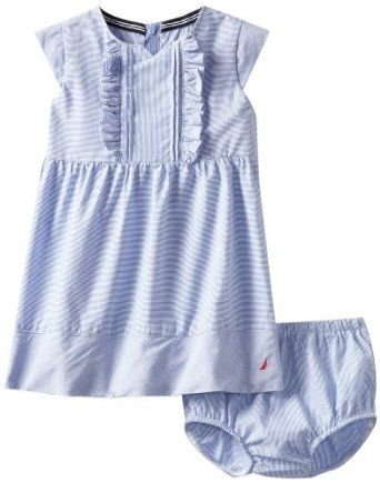Nautica Baby-girls Infant Mini Pinstripe Dress, Classic Blue, 24 Months Nautica. $16.99