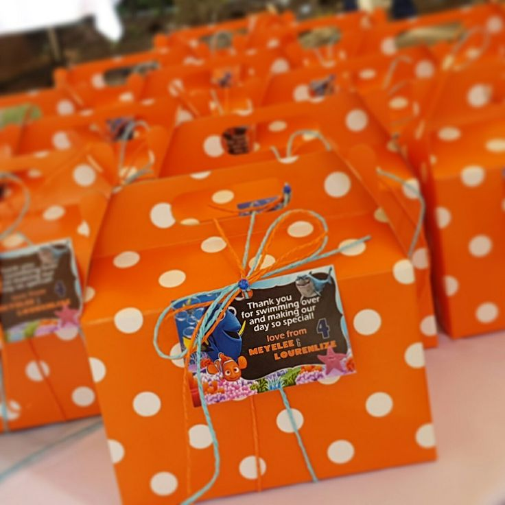 Customized Nemo & Dory Party Boxes. Finding Nemo. Finding Dory. Party Favours. Party Favors