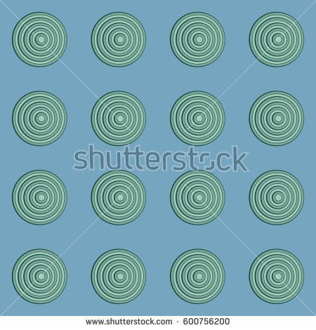 Retro background with turquoise circles on blue #vectorpattern #patterndesign #seamlesspattern
