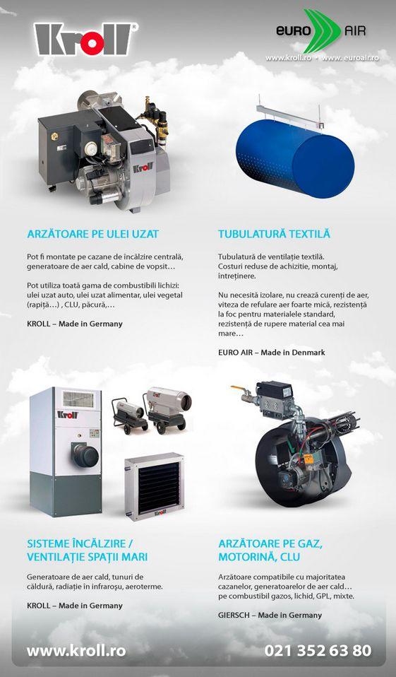 Kroll Romania: Sistem incalzire ulei uzat / sistem ventilatie