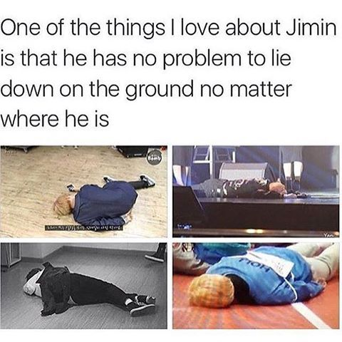 That's why he his Park Jimin, so he can park himself everywhere XD