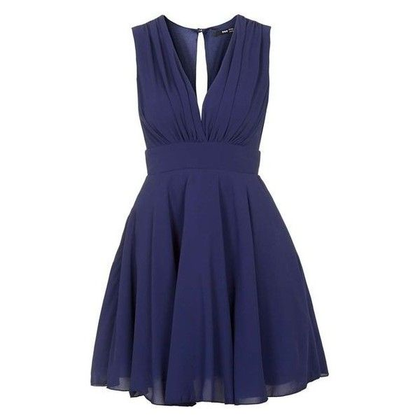 TFNC Nordi Navy Dress ❤ liked on Polyvore featuring dresses, navy dress, navy blue dress, tfnc, blue cocktail dresses and blue dress