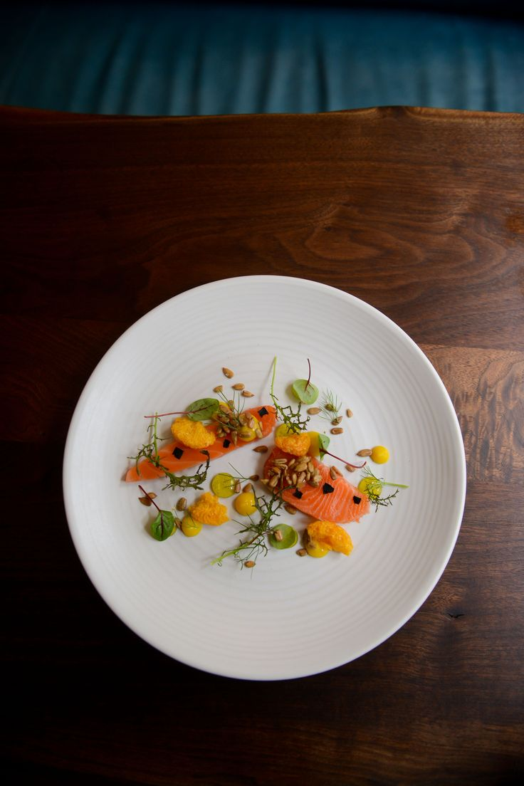 Ōra King salmon, satsuma, vanilla and sunflower seeds - Matt Lambert - The Musket Room NYC #oraking