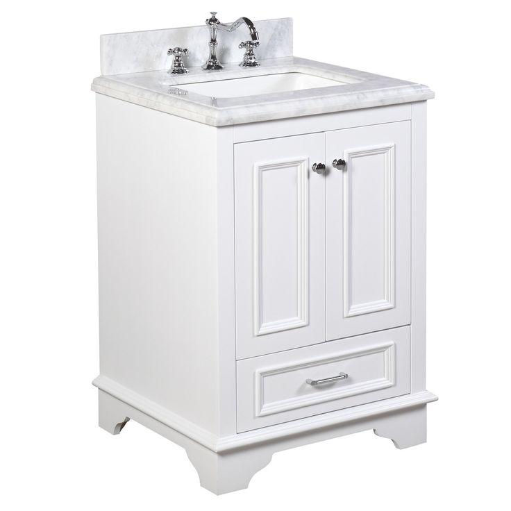 Nantucket 24-inch Vanity (Carrara/White)