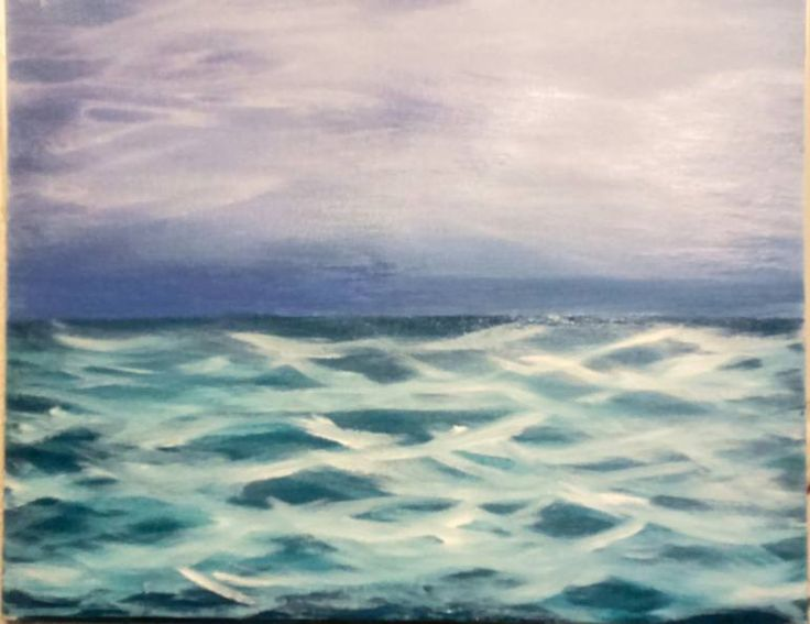 Buy Turbulent Sea, a Acrylic on Canvas by Kay's Fine Art from United States. It portrays: Seascape, relevant to: sea, waves, seascape, deep, stormy, ocean Oil and acrylic impressionistic seascape on canvas panel of an empty turbulent ocean. Looks like a storm might be just over the horizon if this choppy water is an indication don't you think? 16in x 20in Oil and acrylic Canvas panel