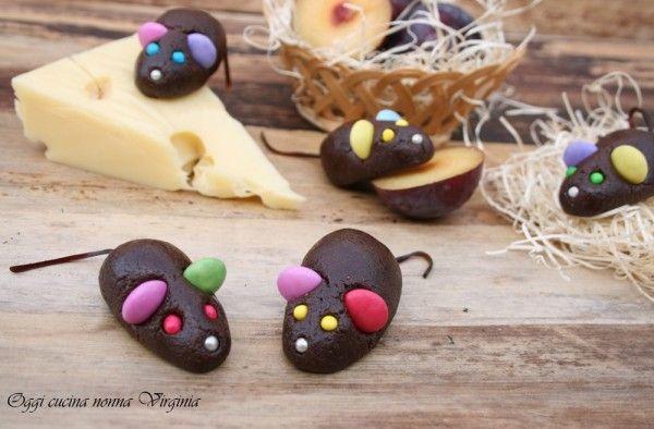 Topolini di cioccolato,ricetta Dolci