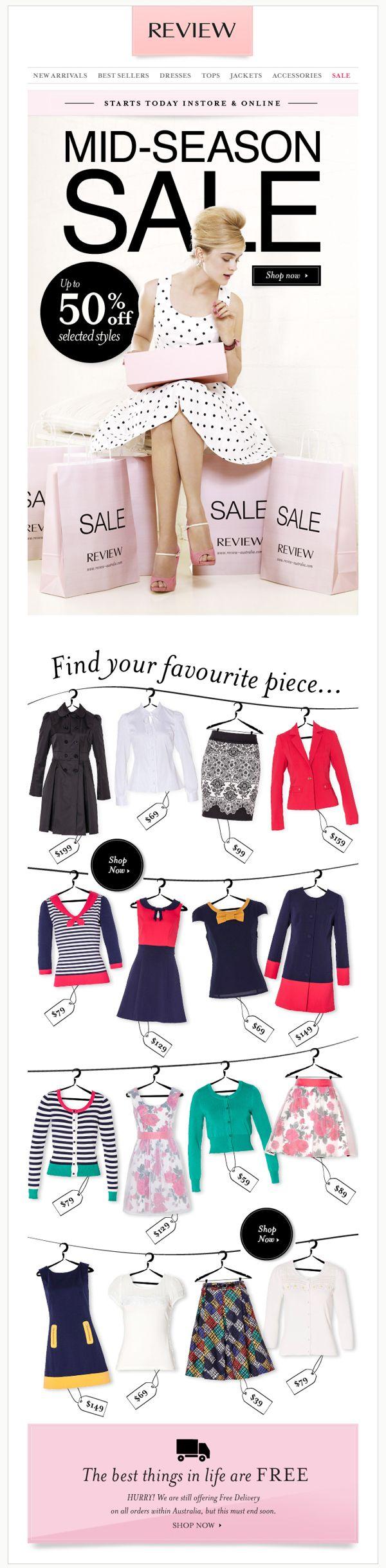 review-australia.com | Weekly eDM/newsletter design by Hollie Bracewell, via…
