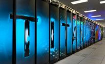 The Titan Supercomputer give it an applause.   710 TB of RAM and they put linux on it can u say mistake!