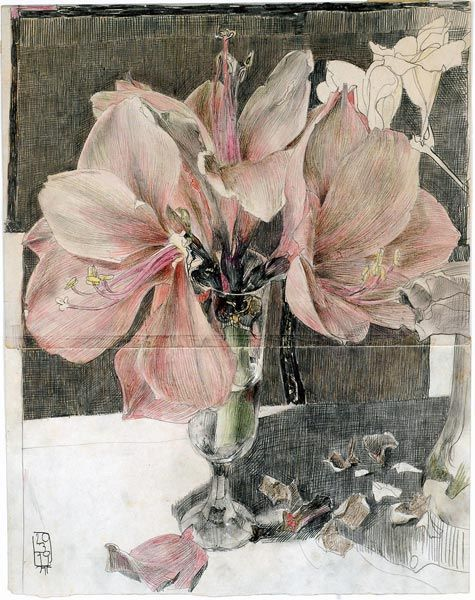 """""""Ein Anfang"""", by Horst Janssen (1929-1995), 1979"""