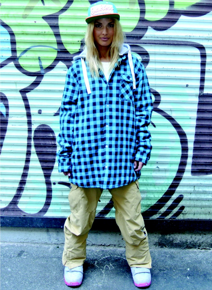 Image of  OOTZ 077 - OOTZ Sherpa Lined Tall Flannel - Aqua Check