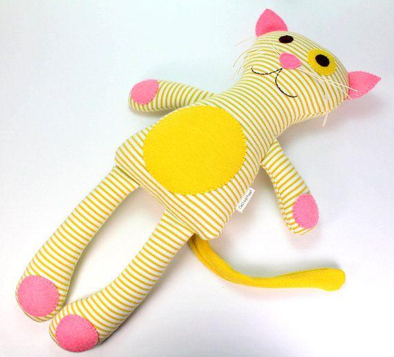 Organic Plush Toy Cat Poppy the Cat Organic Soft by CleoAndPoppy