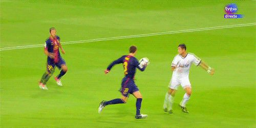 Gerard Pique recreates Cristiano Ronaldo's 'calma' celebration… cos he can't recreate this.