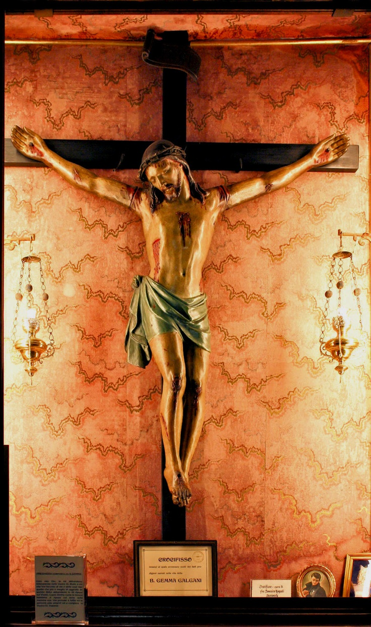 Crucifix in the Giannini household that miraculously came alive and embraced St. Gemma