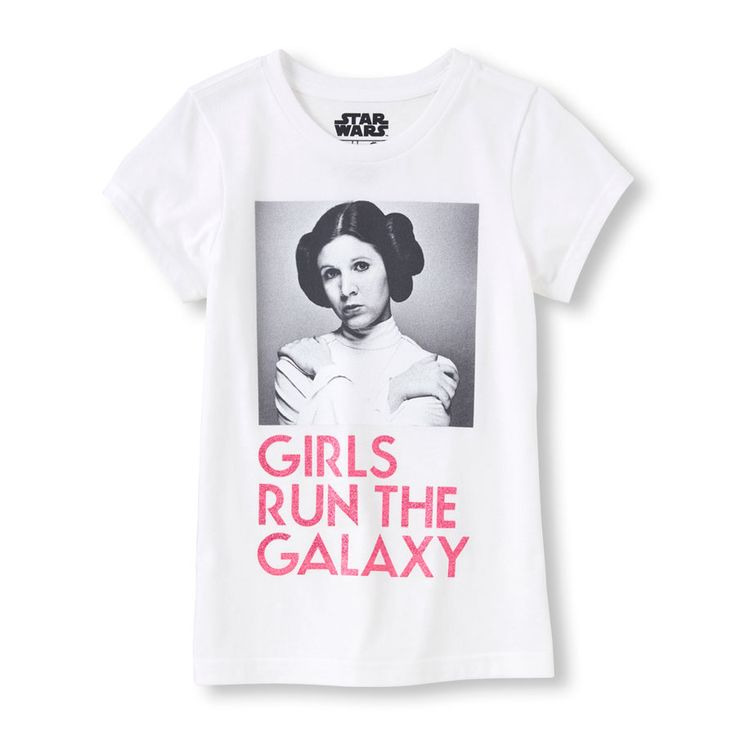 Girl's Short Sleeve Star Wars 'Girls Run The Galaxy' Graphic Tee | Show everyone who REALLY runs the galaxy with this awesome Star Wars graphic tee. We're the PLACE for Jedi-approved fashion!