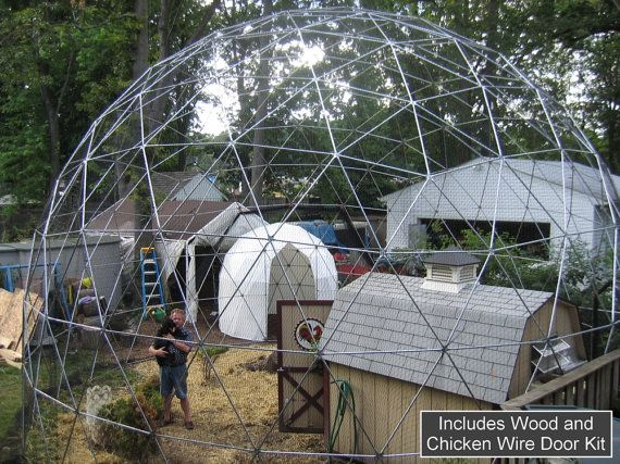 30 ft Geodesic Dome Outdoor Aviary Flight Cage by SunriseDomes, $3749.00
