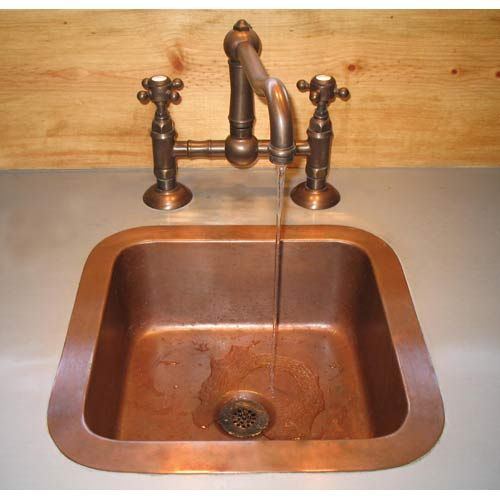 ... Smooth Weathered Copper Undercounter Bathroom Sink Terra Acqua