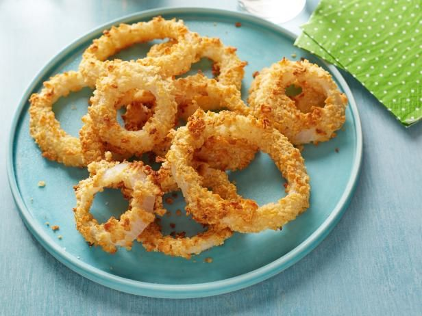 Get Ellie Krieger's Oven Baked Onion Rings Recipe from Food Network