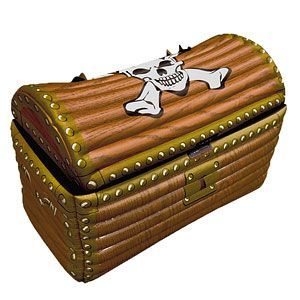 Inflatable:  Treasure Chest Inflatable Cooler - 64cm (each)