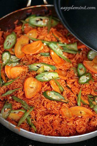 African food, Nigerian food  Jollof Rice. mmmmm....Jollof rice