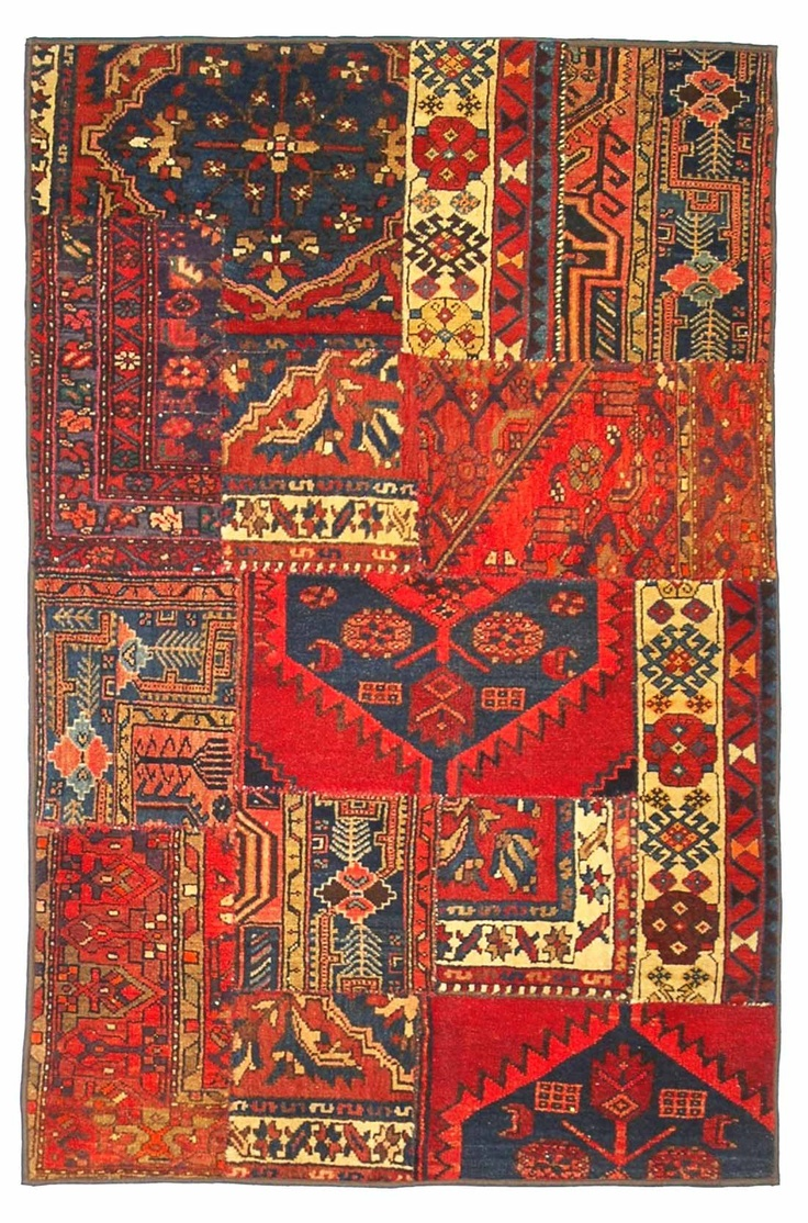 Persian Rugs Collage By Nishaburi