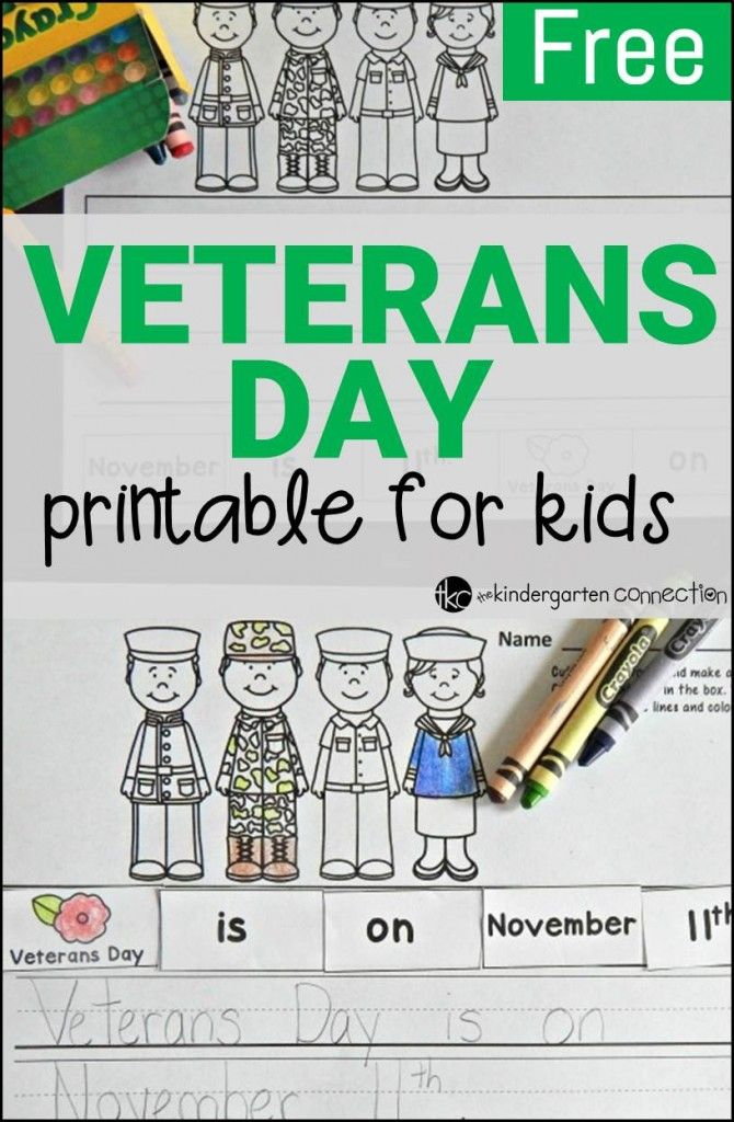 Looking for ideas for learning about Veterans Day with young learners? Grab this free printable to start your learning!