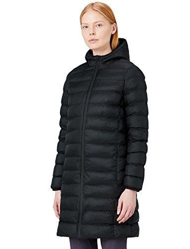 812678491ef MERAKI Doudoune Longue Femme à Capuche Noir (Black) XXX-Large ...