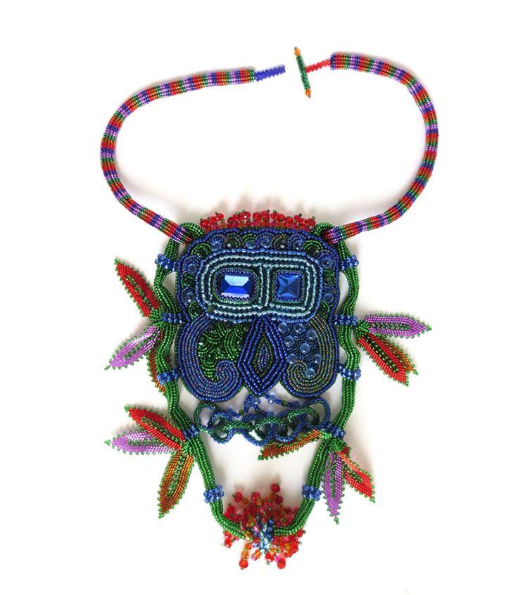 big beaded fancy coloured pendant