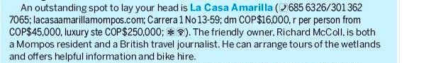 Our review in the new Lonely Planet Colombia guide