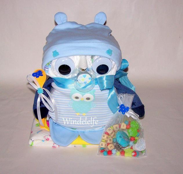 ♥♥♥ Windeleule inkl. handg. Schnullerk. ♥♥♥ von Windelelfe auf DaWanda.com