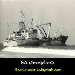 The Oranjeland - wrecked off EL Esplanade, August 1974