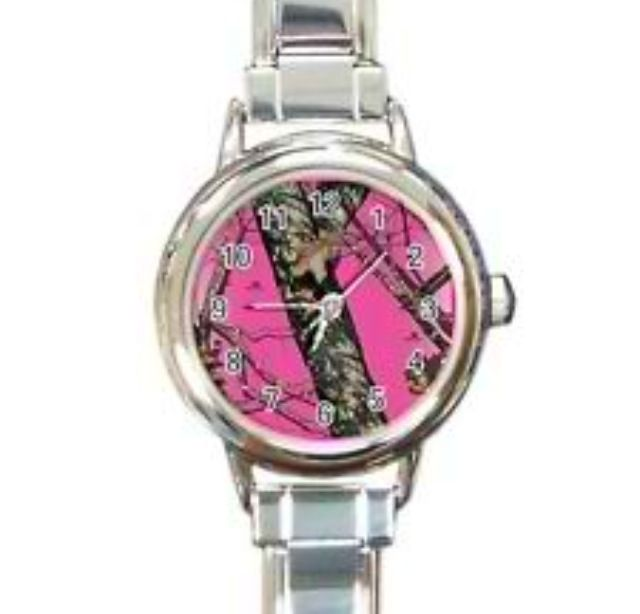 Pink real tree camo watch. OMG...I'm in LOVE!! eBay