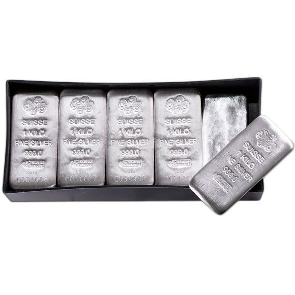 1 Kilo Pamp Suisse Silver Bars For Sale At Low Premiums Money Metals Silver Bars Silver Silver Bullion