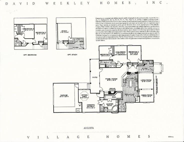 43 best David Weekly Village Homes in Celebration FL images on – David Homes Floor Plans