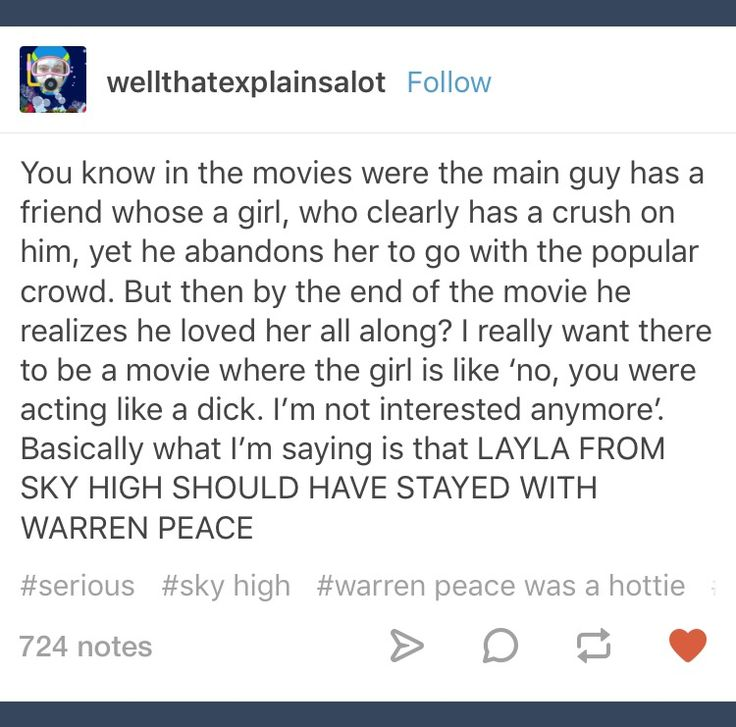 Tumblr; Sky High; Warren Peace; Layla Williams