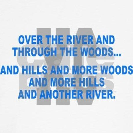 Over the River Cross Country Quote Hoodie