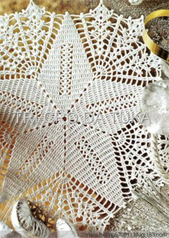 Star doily with diagram