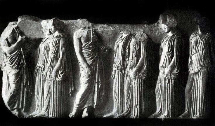 Фидий и его ученики. Девушки. Фрагмент фриза Парфенона