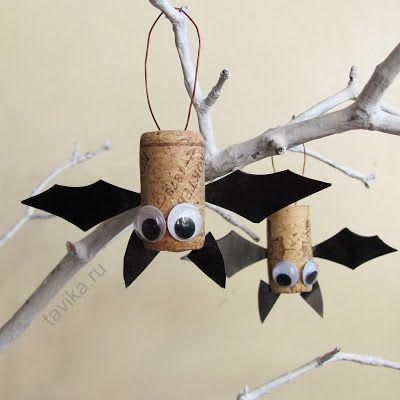 Летучие мыши на Хэллоуин: детские поделки