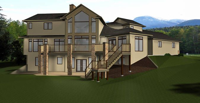 House plan 2012642 executive 2 storey home by Walkout basement windows