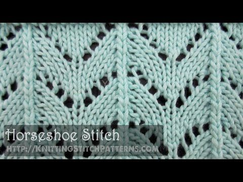 Horseshoe Stitch - YouTube