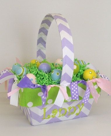 Best 25 monogrammed easter baskets ideas on pinterest easter basket monogrammed easter basket girls personalized easter basket with fabric easter gift monogrammed gifts by negle Images