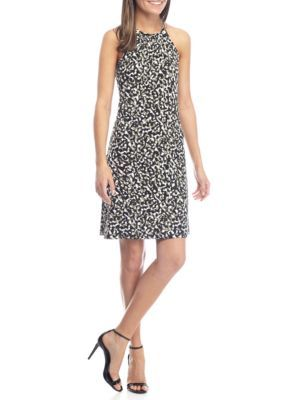 Michael Michael Kors Women's Camo Matte Jersey Halter Dress - Safari Green - Xs