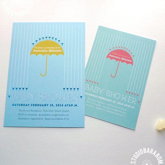 DIY Baby Shower Invitation  girl / boy babyshower by #studiobarabom #barabom