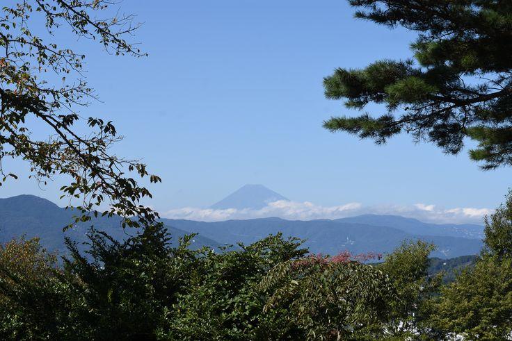 小室山登山道からの富士山 2016.10