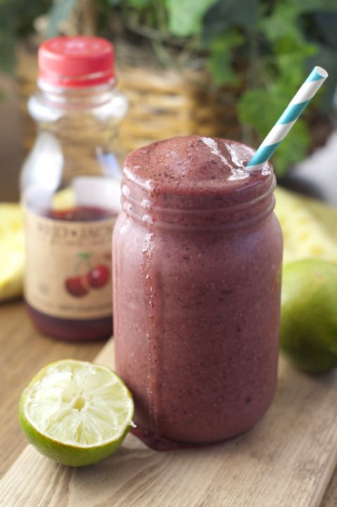 Cherry Coconut Lime Smoothie | Wishes and Dishes